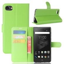 Voor BlackBerry Motion Litchi textuur horizontale Flip lederen draagtas met houder & kaartsleuven & Wallet(Green)