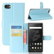Voor BlackBerry Motion Litchi textuur horizontale Flip lederen draagtas met houder & kaartsleuven & Wallet(Blue)