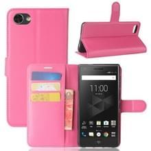 Voor BlackBerry Motion Litchi textuur horizontale Flip lederen draagtas met houder & kaartsleuven & Wallet(Magenta)