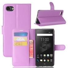 Voor BlackBerry Motion Litchi textuur horizontale Flip lederen draagtas met houder & kaartsleuven & Wallet(Purple)