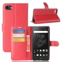 Voor BlackBerry Motion Litchi textuur horizontale Flip lederen draagtas met houder & kaartsleuven & Wallet(Red)