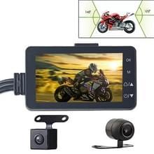 MT-80 3 0 inch 140 graden groothoek HD video motorfiets Dual Camera DVR  ondersteuning TF-kaart (32GB Max)