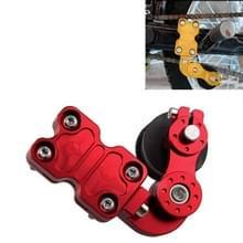 HC154 motorfiets gemodificeerde accessoires universele aluminiumlegering Chain Adjuster (rood)