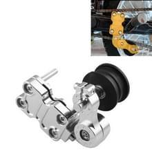 HC154 motorfiets gemodificeerde accessoires universele aluminiumlegering Chain Adjuster (zilver)