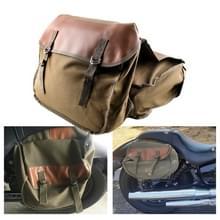 MB-OT298 Motorfiets accessoires gewijzigde kant van de doos Canvas Bag Knight Bag Kit (Khaki)