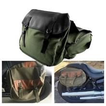 MB-OT298 Motorfiets accessoires gewijzigde kant van de doos Canvas Bag Knight Bag Kit (Groen)