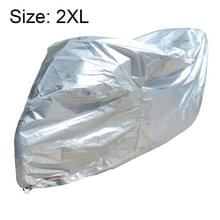 210D Oxford Cloth Motorcycle Electric Car Regenproof Dust-proof Cover  Grootte: XXL (Zilver)