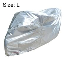 210D Oxford Cloth Motorcycle Electric Car Regenproof Dust-proof Cover  Grootte: L (Zilver)