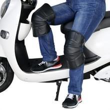 1 paar lederen wol motorfiets Kneepad Windproof opwarming van de aarde knie beschermers benen beschermer verdikking koude-proof