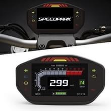 Speedpark Motorfiets LCD TFT Digitale Snelheidsmeter 14000RPM Backlight Motorcycle Kilometerteller voor 1 2 4 Cilinders Meter