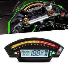 Speedpark Motorfiets LCD TFT Digitale Snelheidsmeter 14000RPM 6 Gear Backlight Motorcycle Kilometerteller voor 1 2 4 cilinders Meter