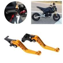 Speedpark Motorfiets Gewijzigd verstelbare remkoppeling handgreep voor Honda GROM MSX125 (Goud)