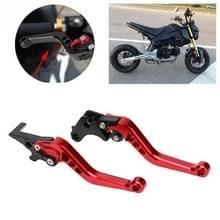 Speedpark Motorfiets Gewijzigd verstelbare remkoppeling handgreep voor Honda GROM MSX125 (Rood)