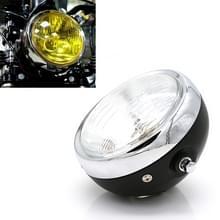 Motorfiets Black Shell Retro Lamp LED Koplamp Modificatie Accessoires voor CG125 / GN125 (Wit)