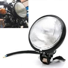 Motorfiets Black Shell Glas Retro Lamp LED Koplamp Modificatie Accessoires (Wit)