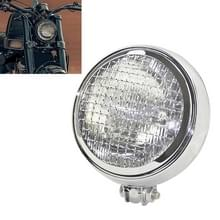 Motorfiets Silver Shell Harley Koplamp Retro Lamp LED Light Modification Accessoires (Wit)