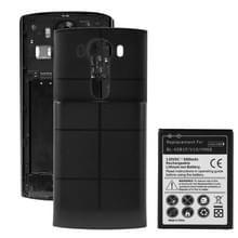 Voor LG V10 / H968 BL-45B1F 3.85V / 6500mAh hoge capaciteit Li-ion accu en achterdeur kaft Replacement(Black)