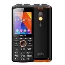 SERVO R25 mobiele telefoon  5500mAh batterij  2 8-inch  21 sleutels steun Bluetooth  FM  flitslicht  MP3 / MP4  GSM  Dual SIM  met draadloze koptelefoon Headset  Russische toetsenbord (zwart)