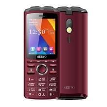 SERVO R25 mobiele telefoon  5500mAh batterij  2 8 inch  21 toetsen  ondersteuning Bluetooth  FM  zaklamp  MP3/MP4  GSM  Dual SIM  met draadloze koptelefoon headset  Russisch toetsenbord (Rose Red)