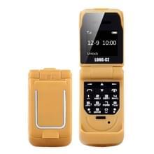 LONG-CZ J9 mini Flip stijl mobiele telefoon  0 66 inch  18 toetsen  ondersteuning Bluetooth  FM  SOS  anti-Lost  Magic Sound  auto beantwoording  GSM  enkele SIM (goud)