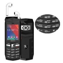 SERVO R26 TWS Bluetooth mobiele telefoon  Russisch toetsenbord  3000mAh batterij  2 4 inch  23 toetsen  ondersteuning voor Bluetooth  FM  zaklamp  MP3/MP4  GSM  Dual SIM  met TWS Bluetooth Headsets (zwart)