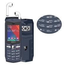 SERVO R26 TWS Bluetooth mobiele telefoon  Russisch toetsenbord  3000mAh batterij  2 4 inch  23 toetsen  ondersteuning Bluetooth  FM  zaklamp  MP3/MP4  GSM  Dual SIM  met TWS Bluetooth Headsets (grijs)