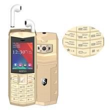 SERVO R26 TWS Bluetooth mobiele telefoon  Russisch toetsenbord  3000mAh batterij  2 4 inch  23 toetsen  ondersteuning Bluetooth  FM  zaklamp  MP3/MP4  GSM  Dual SIM  met TWS Bluetooth Headsets (goud)