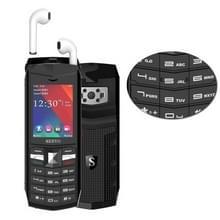 SERVO R26 TWS Bluetooth mobiele telefoon  Engels toetsenbord  3000mAh batterij  2 4 inch  23 toetsen  ondersteuning voor Bluetooth  FM  zaklamp  MP3/MP4  GSM  Dual SIM  met TWS Bluetooth Headsets (zwart)