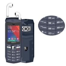 SERVO R26 TWS Bluetooth mobiele telefoon  Engels toetsenbord  3000mAh batterij  2 4 inch  23 toetsen  ondersteuning Bluetooth  FM  zaklamp  MP3/MP4  GSM  Dual SIM  met TWS Bluetooth Headsets (grijs)