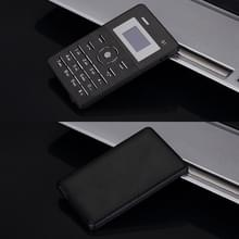 AEKU Qmart Q1 kaart mobiele telefoon  netwerk: 2G  lage straling gezonder  4 0 mm Ultra Thin Pocket Mini Slim Card Phone  1 0 inch  GPRS  BT  FM  Alarm(Black)