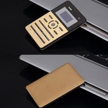AEKU Qmart Q1 kaart mobiele telefoon  netwerk: 2G  lage straling gezonder  4 0 mm Ultra Thin Pocket Mini Slim Card Phone  1 0 inch  GPRS  BT  FM  Alarm(Gold)