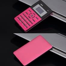 AEKU Qmart Q1 kaart mobiele telefoon  netwerk: 2G  lage straling gezonder  4 0 mm Ultra Thin Pocket Mini Slim Card Phone  1 0 inch  GPRS  BT  FM  Alarm(Magenta)