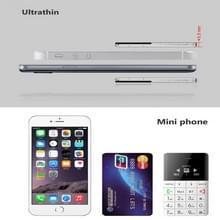 AEKU Qmart Q5 kaart mobiele telefoon  netwerk: 2G  5.5 mm Ultra Thin Pocket Mini Slim Card Phone  0.96 inch  QWERTY-toetsenbord  BT  stappenteller  externe Notifier  MP3-muziek  externe Capture(Gold)