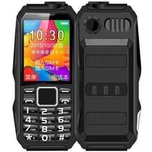 HAIYU H1 Triple Proofing Elder Phone  Waterproof Shockproof Dustproof  1200mAh batterij  1 8 inch  21 toetsen  LED Zaklamp  FM  Dual SIM (Zwart)