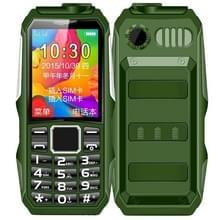 HAIYU H1 Triple Proofing Elder Phone  Waterproof Shockproof Dustproof  1200mAh batterij  1 8 inch  21 toetsen  LED Zaklamp  FM  Dual SIM (Groen)