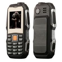 L9 Triple taalprogramma oudere telefoon  waterdichte  Shockproof stofdicht  3800mAh batterij  1.8-inch  21 sleutels LED zaklamp  FM  tweevoudig SIM(Black)