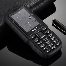 KUH T3 Rugged Phone  Waterproof Dustproof Shockproof  MTK6261DA  2400mAh Battery  2.4 inch  Bluetooth  FM  Dual SIM(Black)