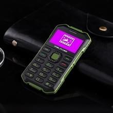Melrose S2 Triple taalprogramma kaart mobiele telefoon  stofdicht Shockproof veiligheidsmaterialen-bestendig  1 7 inch  MTK6260DA  21 sleutels  Bluetooth  FM  0.3MP Camera  GSM (Army Green)