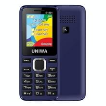 UNIWA E1801 mobiele telefoon  1 77 inch  800mAh batterij  21 toetsen  ondersteuning Bluetooth  FM  MP3  MP4  GSM  Dual SIM (Blauw)