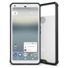 Voor Google Pixel 2 Cover XL acryl + TPU schokbestendige transparant Armor beschermende Back Case(Black)