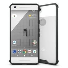 Voor Google Pixel 2 acryl + TPU dekken schokbestendige transparant Armor beschermende back cover(Black)