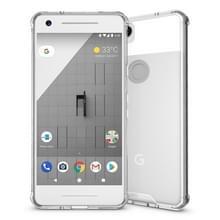 Voor Google Pixel 2 acryl + TPU dekken schokbestendige transparant Armor beschermende back cover(Transparent)