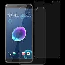 2 stk 0 26 mm 9H 2.5D getemperd glas Film voor HTC Desire 12