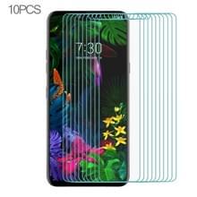 10 stuks voor LG G8s ThinQ Ultra Slim 9H 2.5 D gehard glas scherm beschermende film (transparant)