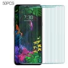 50 stuks voor LG G8s ThinQ Ultra Slim 9H 2.5 D gehard glas scherm beschermende film (transparant)