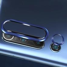 Voor Xiaomi Mi 10 0 3 mm 9D 9H cameralens gehard glas film + lens ringframe (blauw)