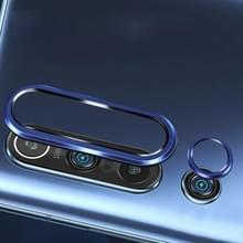 Voor Xiaomi Mi 10 Pro 0 3 mm 9D 9H cameralens gehard glas film + lens ringframe (blauw)