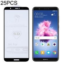 25 stuks 9H 5D volledige lijm volledig scherm gehard glas film voor Huawei Enjoy 7S/P Smart