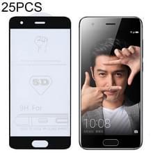25 stuks 9H 5D volledige lijm volledig scherm gehard glas film voor Huawei Honor 9