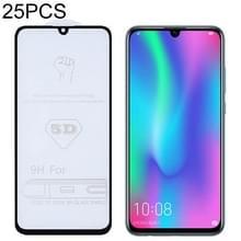 25 stuks 9H 5D volledige lijm volledig scherm gehard glas film voor Huawei Honor 10 Lite/P Smart 2019